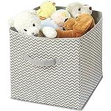 mdesign Chevron cambiador de bebés de mesa/Organizador de Armario para ropa, toallas, techos, babero–Taupe, natural