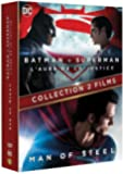 BATMAN VS SUPERMAN / MAN OF STEEL - Coffret 2 Films DC COMICS