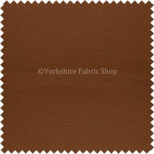 Yorkshire Fabric Shop Paris haselnussbraunes Kunstleder, weich, zum Polstern von Kopfenden von Betten, Sofas und Kissen