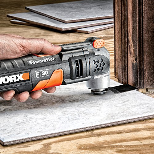 Perfect for tilers - WORX WX680 F30 350W Sonicrafter Multi-Tool Oscillating Tool with 29 Accessories