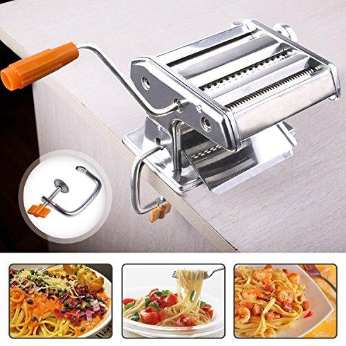 Pasta Maker Maschine, 3in 1Hand Made Edelstahl Pasta Maschine Cutter für Spaghetti Lasagne Tagliatelle -