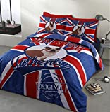 Home Bedding Store British Bulldog Authentic Designer Bedding Duvet Cover Set, Single