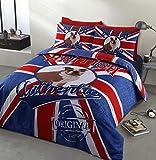 Home Bedding Store British Bulldog Authentic Designer Denim Look Bedding Duvet Cover Set, King