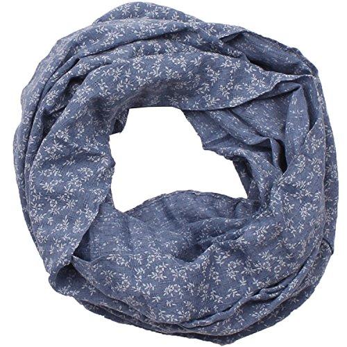Damen Rundschal (Loopschal, Schlauchschal) Nr. 432 (Blau)