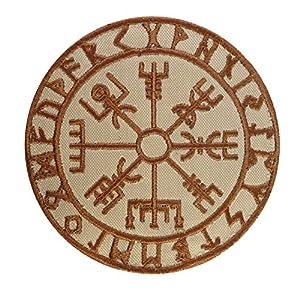 Desert DCU Vegvisir Viking Compass Norse Rune Morale Tactical Velcro Écusson Patch