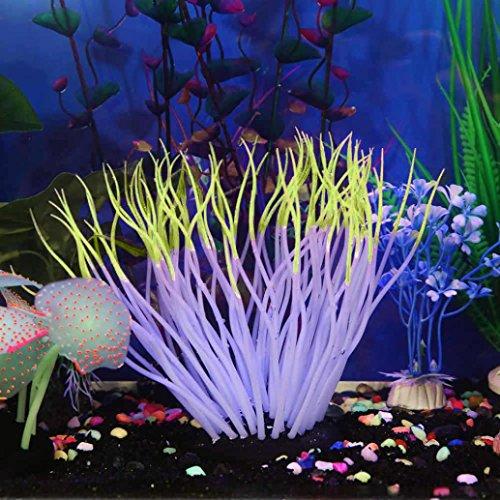 Upxiang Silikon Koralle Aquarium, Fisch Tank Künstliche Koralle Pflanze, Weiche Silikagel Koralle, Bau der simulierten Saugfußfisch Tank Koralle, Unterwasser Ornament Dekor Gartendekoration (D) (Stehen Künstliche Pflanze)