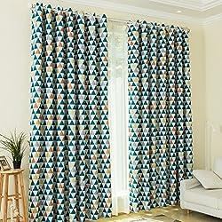 KINLO Cortina opaca ventana 145*245CM cortinas para habitacion/salón tasa de sombreado del 85% tejido suave con alta calidad(2 piezas)