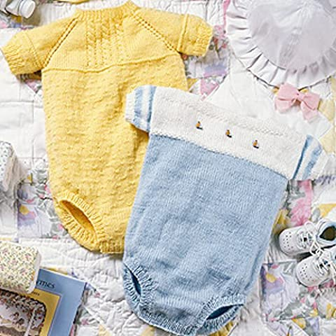 Cabled & Sailor Bubble Suits Knit ePatterns