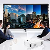GBlife GP-9 LED Beamer Projektor 2000 Lumens 1920 x 1080 Pixel Digital TV Multimedia für LCD-Videogame Heimkino Home Cinema Theate Telefon ,Laptop, PC, SD Karte ,Play Station, TV Box, Xbox, USB Disk(Weiß) -