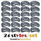 Augenbrauen Schablone - Kontur Kit / 24 Stück im Set - Augenbrauenschablone - MakeUp Hilfe /...
