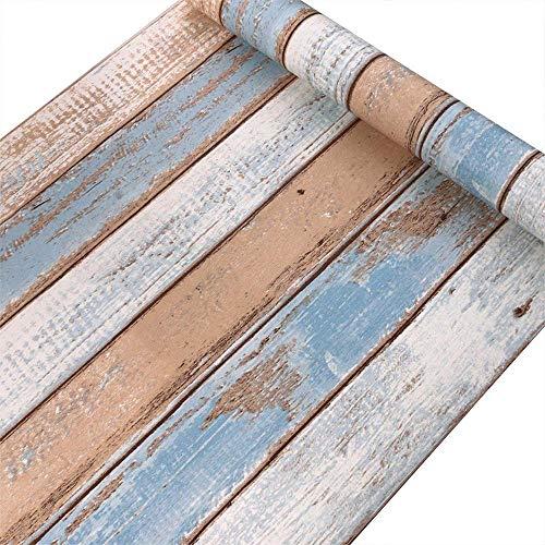 UKNANY Dekoratives Life Holz-Kontaktpapier, selbstklebend, Holztapete, Vintage-Holzpaneele, für den Innenbereich, einfach und schön As Shown E