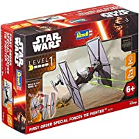 Revell-Modellbausatz-Star-Wars-First-Order-Special-Forces-TIE-Fighter-im-Mastab-151-Level-1-originalgetreue-Nachbildung-mit-vielen-Details-Build-Play-mit-LightSound-zum-Bauen-Spielen-06751 Revell Modellbausatz Star Wars First Order Special Forces TIE Fighter im Maßstab 1:51, Level 1, originalgetreue Nachbildung mit vielen Details, Build & Play mit Light&Sound, zum Bauen & Spielen, 06751 -