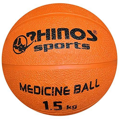 Gymnastikball 10 kg schwarz RHINOS sports Medizinball