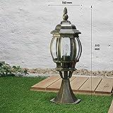 Außen-Sockelleuchte Weglampe Brest in antik E27 bis 60W IP23 Wetterschutz Wegeleuchte Außen-Leuchte Pfeiler-Lampe - 5