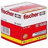 FISCHER plug SX, afmeting 10 x 50 mm, met flens, verpakking à 50 stuks,