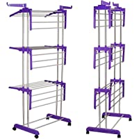 Primelife Extra-Large 4 Level Modular Cloth Drying Stand with Weather Resistant Frame (Blue)