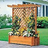 Rankkasten mit Pergola 112 x 65 x 140 cm Rankhilfe Blumenkasten Kiefer massiv