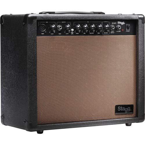 STAGG 40 W RMS Akustik-Gitarrenverstärker m. Federhall