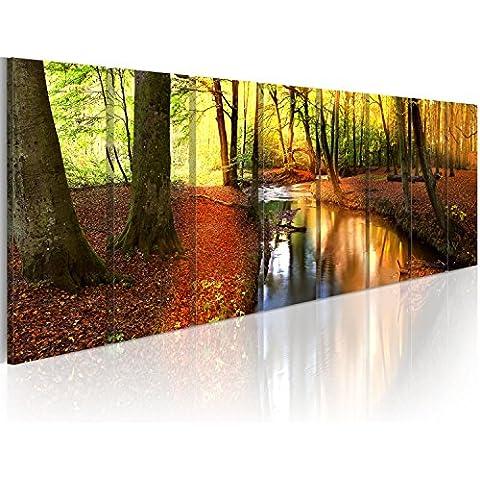 Formato Grande Cuadro! Impresion en calidad fotografica! Cuadro en lienzo tejido-no tejido 8 partes naturaleza 030212-63 160x60 cm B&D