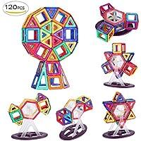 Shinehalo 120PCS Bloques de Construcción Magnéticos para Niños Creatividad Niño Juguetes Educativos Bloque de Construcción DIY Modelo Juguetes Navidad para Niños