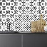 Carreaux de ciment adhésif mural - azulejos - 15 x 15 cm - 24 pièces