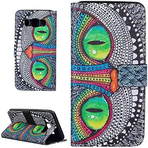 P&A Coque pour Samsung Galaxy J5 (SM-J500), Portefeuille Cuir Housse (Pattern Design)Cuir PU Etui Housse Case Cover Pour Samsung Galaxy J5 (SM-J500) Smartphone débloqué 4G