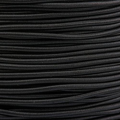 5m Gummikordel - Hutgummi - Rundgummi, hochwertig, extra-stark in 3mm, schwarz -