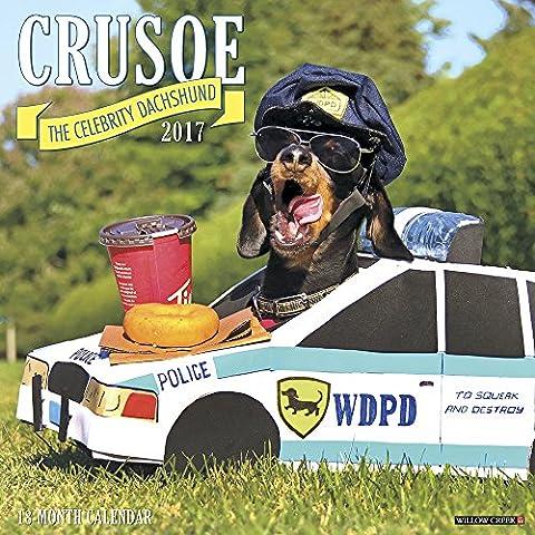 Crusoe the Celebrity Dachshund 2017 Calendar