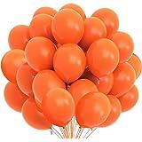 Songjum 50 pièces ballons en latex orange, ballons en latex orange de 12 pouces, kit de décoration de ballons orange pour fêt