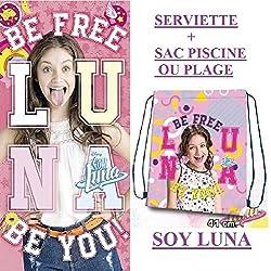 Toalla de playa bain- soy Luna + 1 bolsa de playa o bolsa de deporte Nouveaute 2017 – 2018
