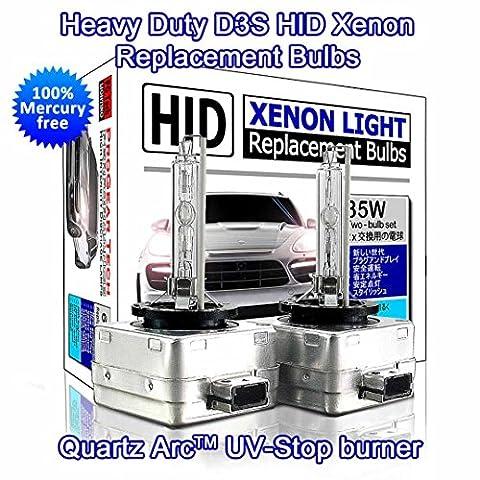 PROGEAR Tech Performance D3S D3R HID Xenon Glühbirnen Ersatz High Low Beams 35W (2Stück)
