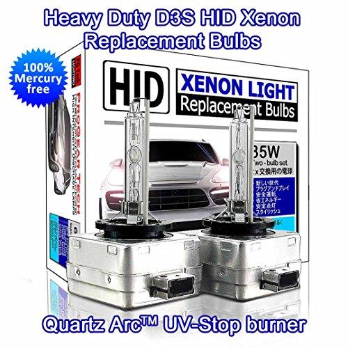 Preisvergleich Produktbild Kraftvolle D3S D3R HID Xenon Ersatz-Glühbirnen, starkes und dezentes Licht, 35W (2Stück)-
