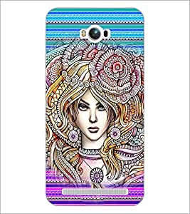 PrintDhaba Fantasy Girl D-6005 Back Case Cover for ASUS ZENFONE MAX ZC550KL (Multi-Coloured)