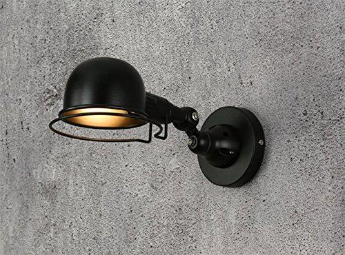 Vintage Industrie Falten einklappbare Wand leichte mechanische Lesen Auge Lampe Arbeitstisch Licht, Schwarz, kurzer Arm -