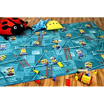 Kinder Spiel Teppich MINIONS Blau in 24 Gr/ö/ßen