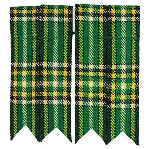 Tartanista - Herren Kilt-Strumpfhalter - einfarbig oder Tartanmuster - Irish National
