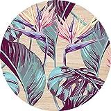2D-Wandobjekt aus Holz | Pflanzen | Blumen | Blüten | Blätter | Wandteller | Holzbild | Shabby-Look | Landhaus | Vintage | Holzobjekt | Deko | Holzdruck | Geschenk, Größe:ca. 40x40cm