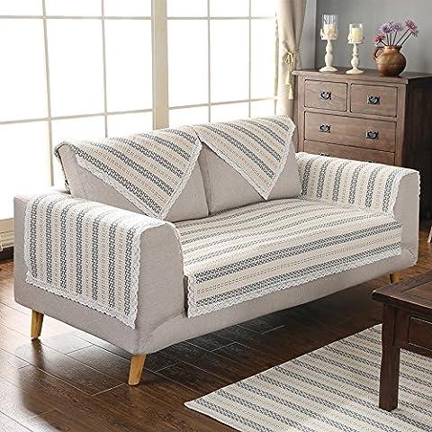New day-Four Seasons divano di stoffa tappetino anti - skid maglia di cotone cuscino a righe semplici e moderni , 70*150cm