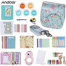 Andoer 14 in 1 Accesorios Kit para Fujifilm Instax Mini 8/8+/8s incluye Bolsa, Selfie Lente, Colores, Marcos de Película, Wall Hanging Frame, Corner Sticker, Border Sticker, Pluma