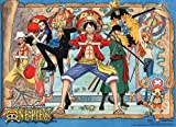 Officially Licensed One Piece: Map Background Special Edition Wall Scroll, 31 X 44 Inches
