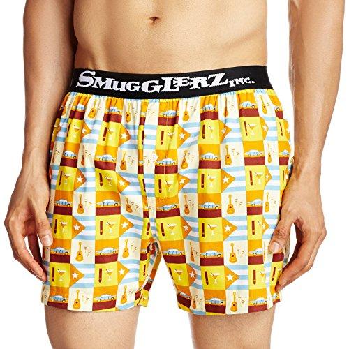 Smugglerz Inc. Men's Cotton Boxer (8000013595007_HAVANA-BXR-ORANGE-L)  available at amazon for Rs.299