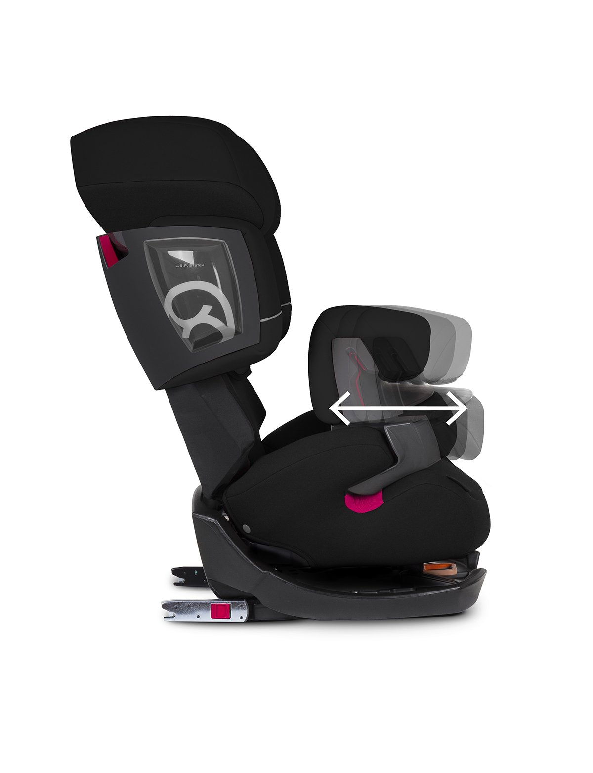 CYBEX Silver Pallas 2-Fix 2-in-1 Child's Car Seat, For Cars with and without ISOFIX, Group 1/2/3 (9-36 kg), From approx. 9 Months to approx. 12 Years, Pure Black  Adjustable safety cushion: More comfort and freedom of movement 2-in-1 seat: Can be used for up to 11 years 5