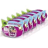 Whiskas Katzensnacks Knuspertaschen, verschiedene Geschmacksrichtungen, Anti-Hairball, für Zahngesundheit oder für junge Katzen, 6 Packungen
