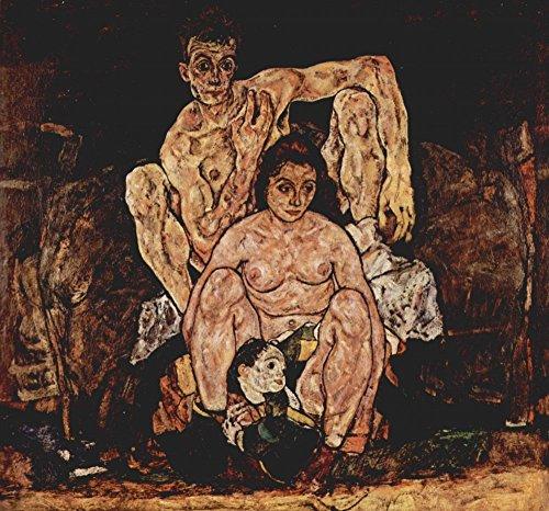 Das Museum Outlet–Die Familie von Egon Schiele, gespannte Leinwand Galerie verpackt. 29,7x 41,9cm