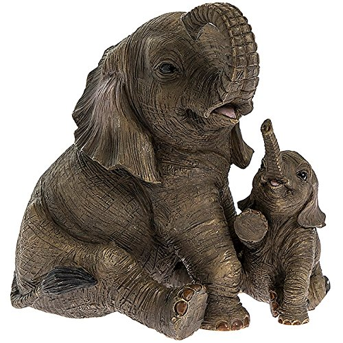 Sitzender Elefant mit Kalb Leonardo 'Out of Africa' Moderne Ornament 12 cm * Box * (Kalb Box)