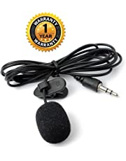 Cables Kart Mini Collar Microphone with Clip for Chatting, Voice & Video Call for Laptop, PC (Black)