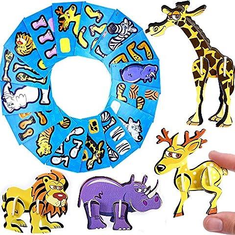 German Trendseller® - 3 x animaux en mousse┃3 D puzzle┃avec