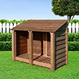 COTTESMORE 4FT LOG STORE/GARDEN STORAGE, BROWN, HEAVY DUTY - Best Reviews Guide