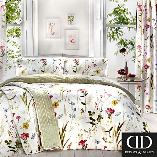 Dreams & Drapes Spring Glade Parure de lit, 52% Polyester, 48% Coton, Multicolore, Double