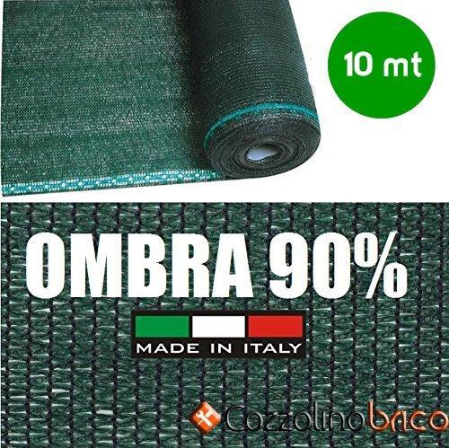 Rotolo 10mt telone ombreggiante frangivista verde - h 100 - per rete metallica